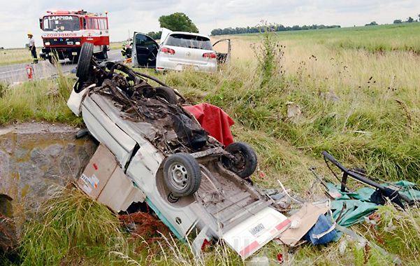 Accidente. El choque ocurrió ayer en la ruta provincial 51