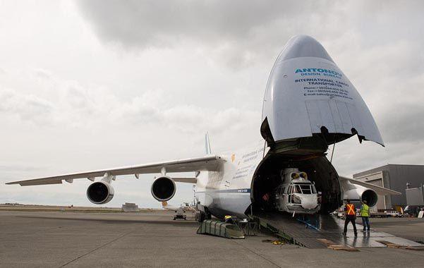 Logística. Un avión ruso de carga pesado Antonov-124