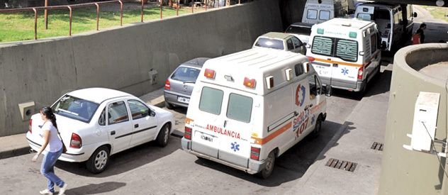 La chiquita fue hallada por personal del Hospital Centenario.