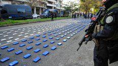 Los 400 kilos de cocaína estaban distribuidos en 369 panes envueltos en colores celeste y blanco.