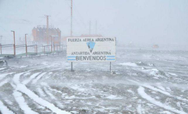 La base en el continente blanco registró temperaturas gélidas.