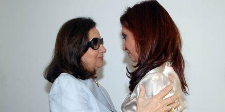 Cristina, reunida con la madre de Ingrid Betancourt y la senadora Córdoba