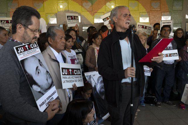 Los familiares de las víctimas de la Tragedia de Once reclamaron hoy