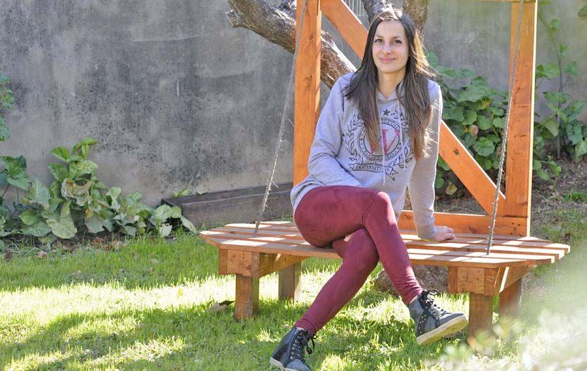Contenida. Camila asegura que si no hubiese tenido el apoyo de su familia y amigos