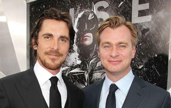 Chistian Bale y Christopher Nolan en la premiere de El Caballero de la Noche asciende en Londres