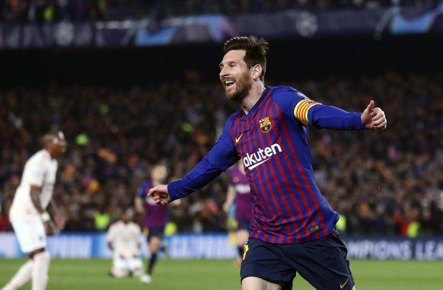 Lionel Messi metió dos goles y una chilena soberbia que se le fue por poco.
