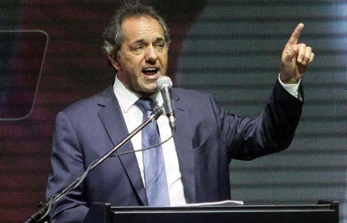 Convocatoria. Scioli se lanzó anoche a la captura de votos para el ballottage.