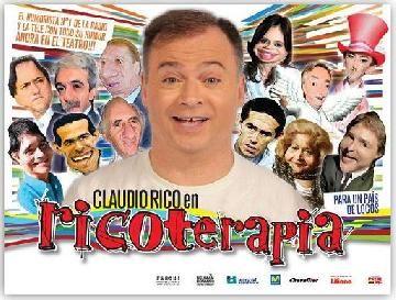 Claudio Rico llega al teatro con Ricoterapia