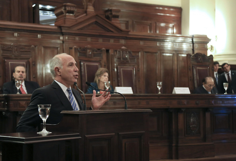Re-reelecto. Lorenzetti ya se aseguró seguir presidiendo la Corte desde 2016