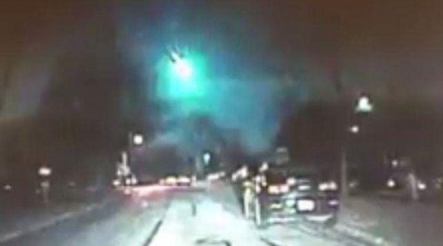 Un enorme meteorito cruzó el cielo en Estados Unidos