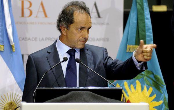 El gobernador bonaerense formuló estas declaraciones al inaugurar las empresas Autoelevadores Almatec