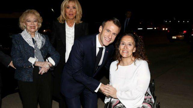 Desconcierto en el arribo de Macron a Ezeiza