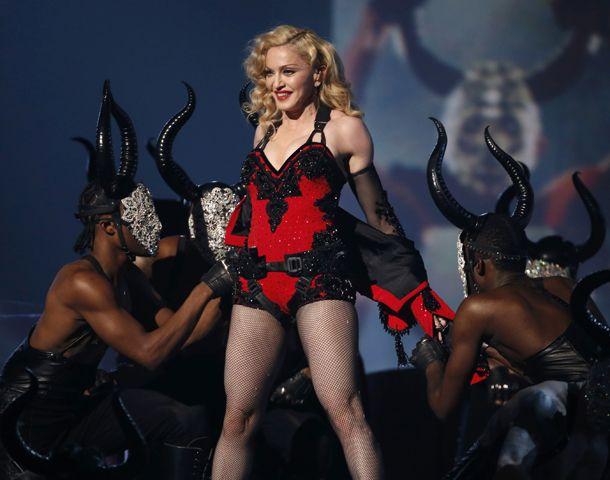 Madonna y un show caliente.