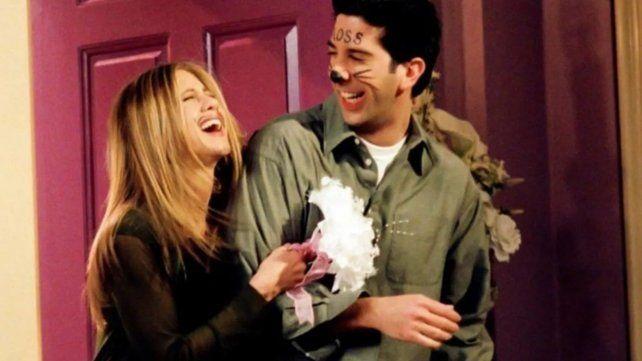 Escena de Friends con Rachel (Jennifer Aniston) y Ross (David Schwimmer) tras casarse en Las Vegas