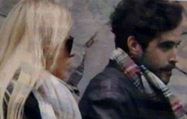 Ailén Bechara y Nicolás Cabré fueron fotografiados juntos mientras caminaban.
