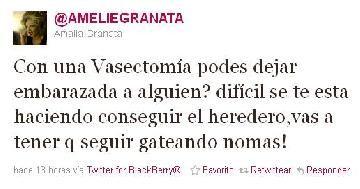 El mensaje encubierto de Amalia Granata: ¿Con una vasectomía podés dejar embarazada a alguien—