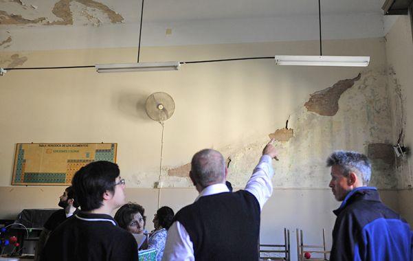 Observación. La escuela fue recorrida ayer por profesionales de la Superintendencia de Riesgos del Trabajo.