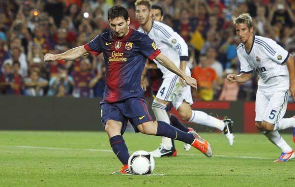Apunta a la red. Lionel Messi es la figura clave del equipo catalán.
