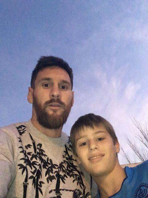 En Funes. Messi