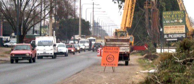 Los trabajos en el considerado como acceso clave a la ciudad están en plena ejecución.