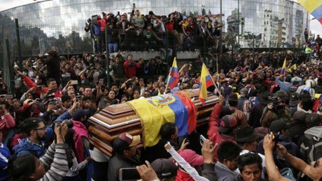Rebelión. La poderosa confederación indígena lidera la revuelta contra el gobierno de Lenín Moreno.