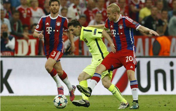 El crack rosarino participó en uno de los goles catalanes en Munich.
