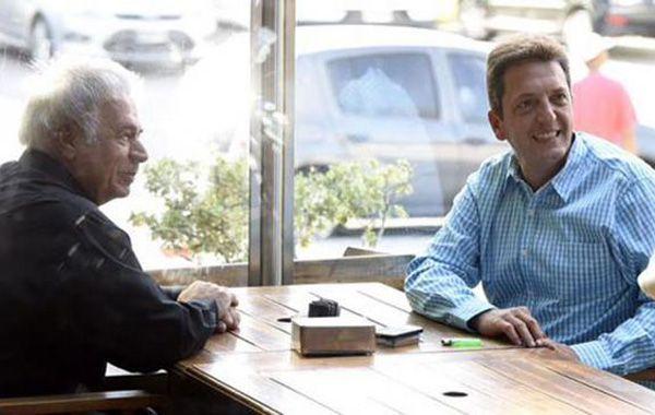 De la Sota y Sergio Massa se reunieron en un bar del Palermo Golf Club.