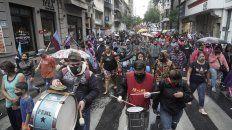 El frente obrero marchó por el microcentro para exigir la entrega de alimentos en barrios populares.