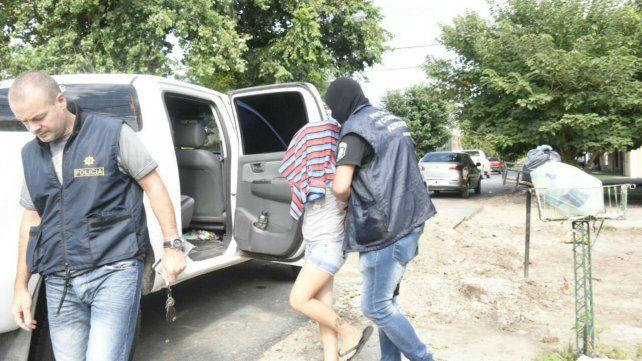 Una de las mujeres detenidas esta mañana en Centeno y Beruti
