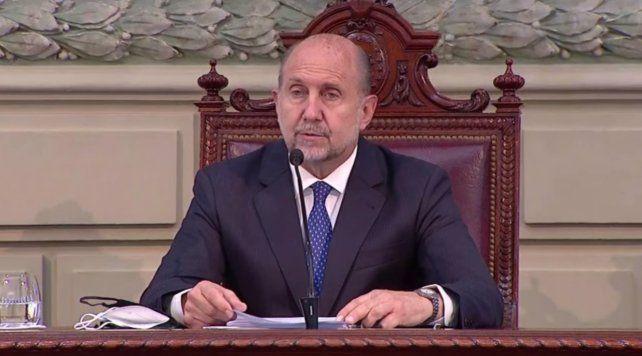 Perotti dejó inaugurado el 139ª período ordinario de sesiones de las cámaras de Senadores y Diputados de Santa Fe.