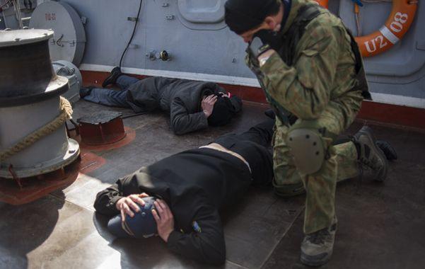 Asalto. La tripulación de la corbeta ucraniana Khmelnitsky