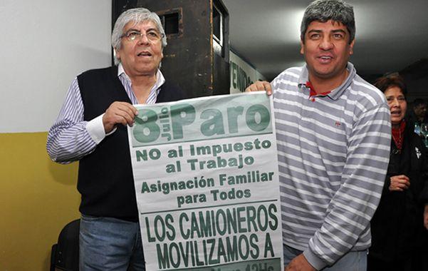 Los Moyano. El gremio de Camioneros eleva la apuesta en su confrontación con Cristina. Paro y movilización.