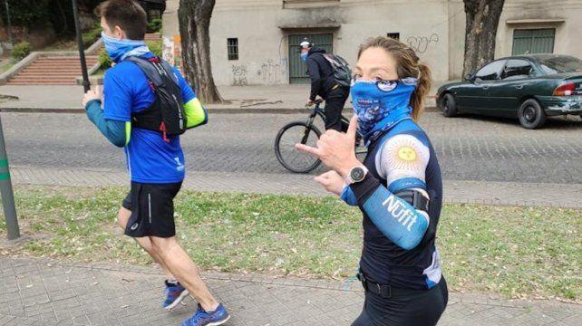 Orgullo de acá: Florencia recorrió los 42.195 kms y fue monitoreada desde Londres.