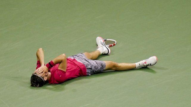 Thiem se desploma tras lograr un histórico título en el abierto norteamericano.