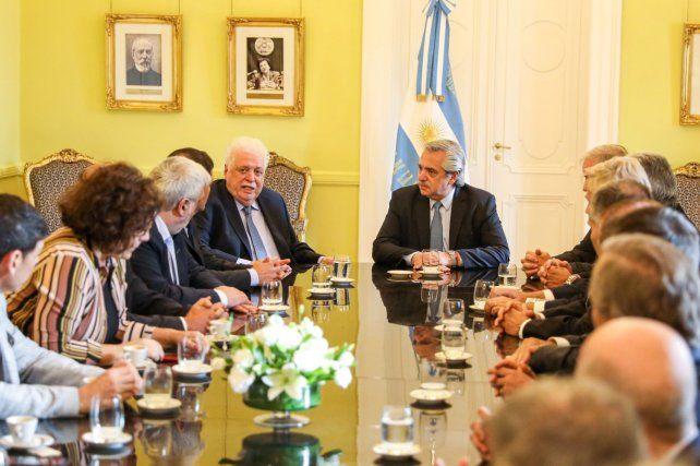 El presidente Alberto Fernández se reunió con el ministro de Salud