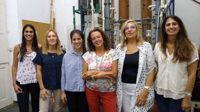 Parte del equipo de científicas que trabajaron en este proyecto.