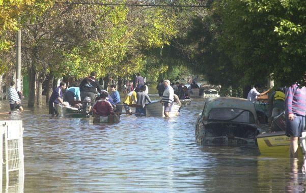Bajo agua. Un tercio de la ciudad quedó sumergida por semanas. El fenómeno afectó a cientos de hogares.