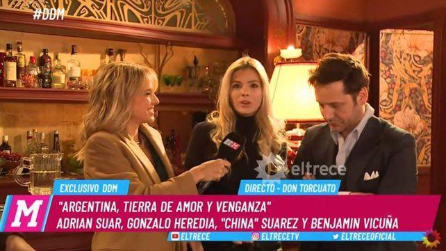 La China Suárez y Benjamín Vicuña, en una divertida entrevista juntos