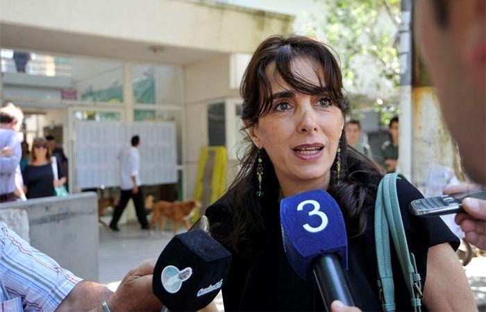 María Eugenia Bielsa votó en la Facultad de Psicología de la UNR.