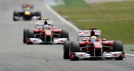 Alonso ganó el GP de Alemania y Ferrari hizo uno-dos en Hockenheim