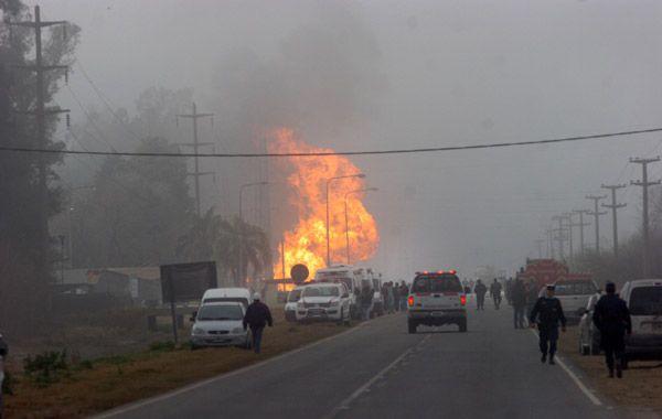 La explosión del gasoducto en Pilar provocó un muerto. (Foto: NA)