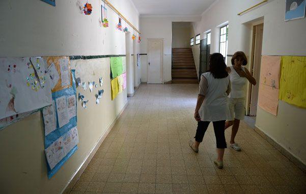 En la escuela Estrada ayer se suspendieron las clases. (Foto: H.Rio)