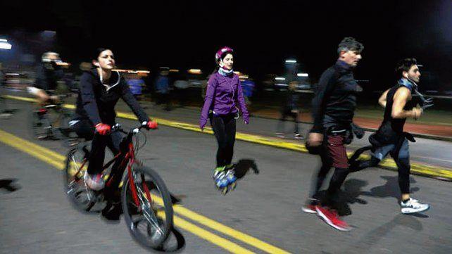 Buenos Aires. Numerosos vecinos salieron a correr por calles y parques.