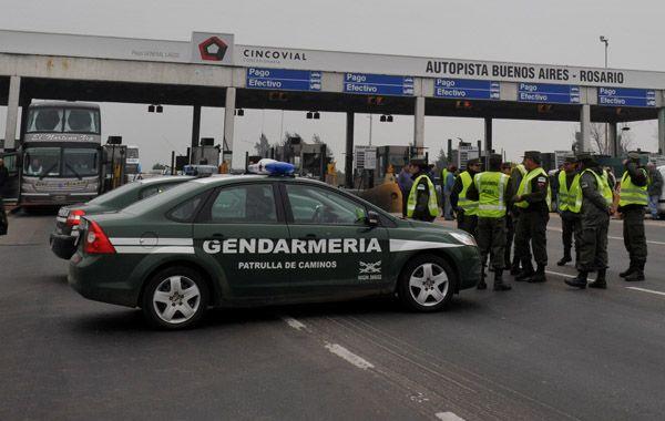 El operativo se realizó la mañana del miércoles en el peaje de la autopista a Buenos Aires