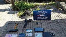 Personal de la AIC detuvo al gendarme sospechoso y le secuestró una pistola y documentación.