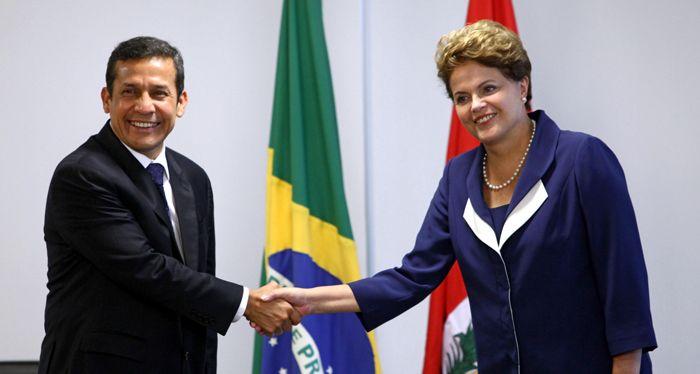 Humala llega al Brasil de Dilma y Lula para subrayar cuál es su modelo