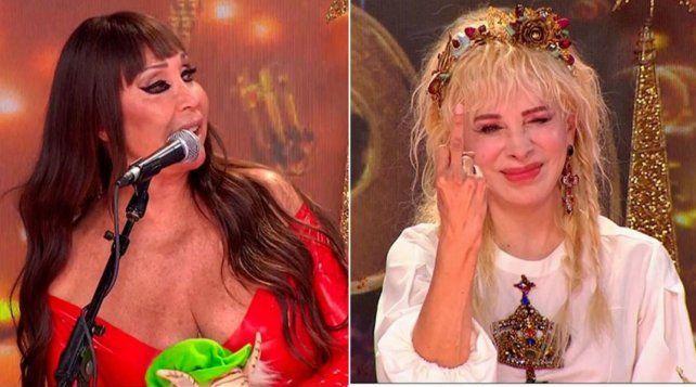 Duelo picante. Moria Casán y Nacha Guevara se trenzaron fuerte en el reality Cantando 2020.