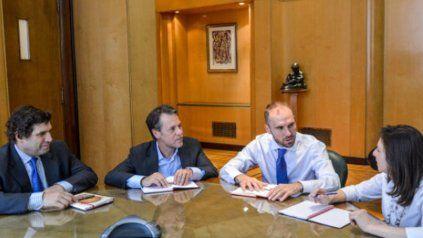 El ministro de Economía, Martín Guzmán, durante una de las reuniones con representantes del Fondo.