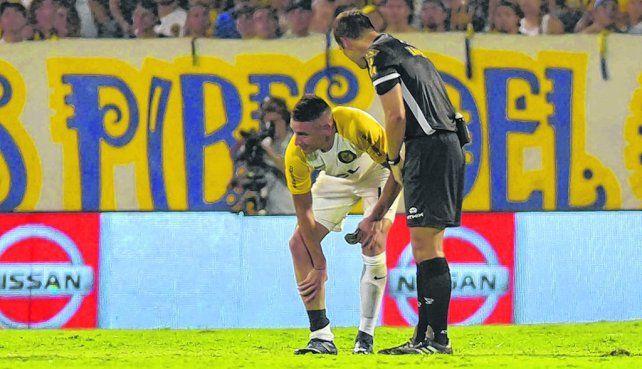 Contra Godoy Cruz II. A Martínez le molestó el gemelo que un par de días antes le habían golpeado en una práctica.