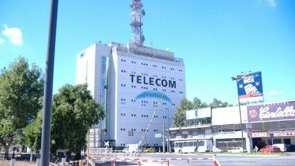 La sucursal de Telecom Rosario.